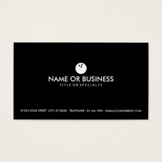 simple bowling business card