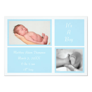 Simple Boxes Birth Announcement (blue)