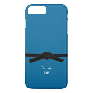 Simple Brazilian jiu-jitsu Black Belt Blue iPhone 7 Plus Case