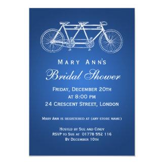 Simple Bridal Shower Tandem Bike Blue Card