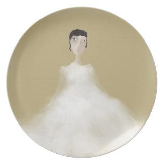 Simple Bride Party Plate