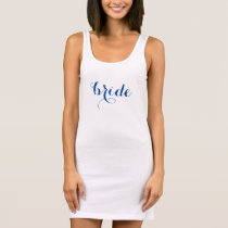 Simple Bride Tank Dress Custom Color Text