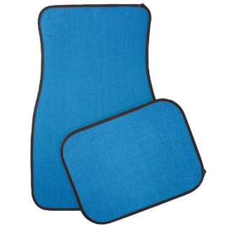 Simple Bright Blue with Grainy Texture Car Mat