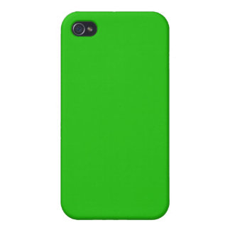 simple bright green color iPhone 4 case