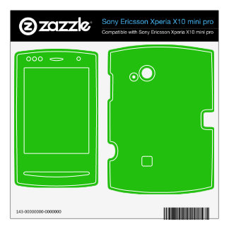 simple bright green color xperia x10 skins