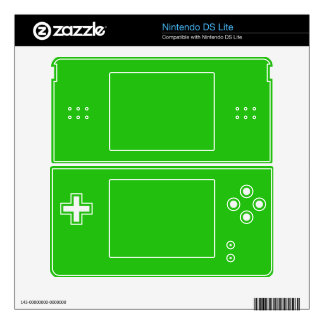 simple bright green color nintendo DS lite decal