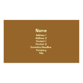 Simple Brown Business Card Template