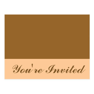Simple brown invitation postcard