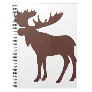 Simple brown moose symbol notebook