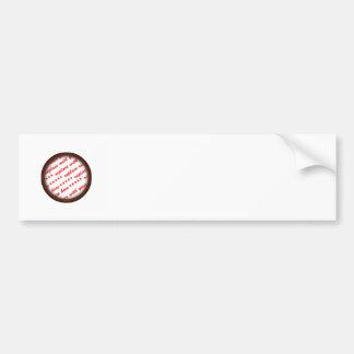 Simple Brown Photo Frame For Him Car Bumper Sticker