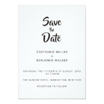 Simple Brush Calligraphy Save The Date Card