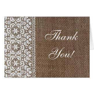 Simple Burlap and Lace Greeting Card