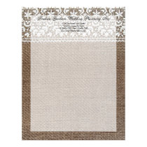 Simple Burlap and Lace Letterhead