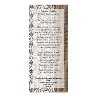 Simple Burlap and Lace Rack Card