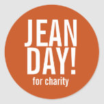 Simple Burnt Orange Jean Day Stickers