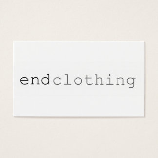 """Simple Businees CArd """"end Clothing"""""""