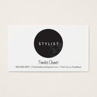 SIMPLE BUSINESS CARD :: bold spot black