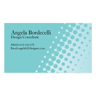 Simple Business Card Half Tone Dots