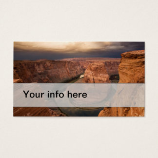 Simple business card of dramatic canyon at sunrise