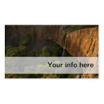 Simple business card of majestic cliff & waterfall