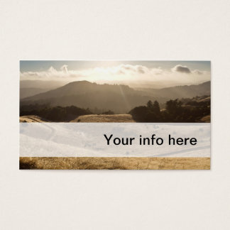 Simple business card of sunny golden meadow