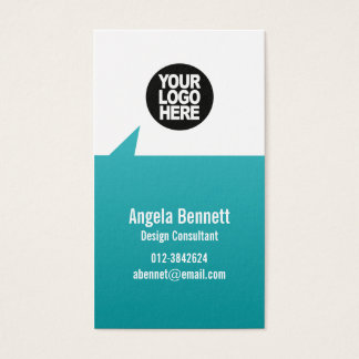 Simple Business Card Pointee Geometric Shapes