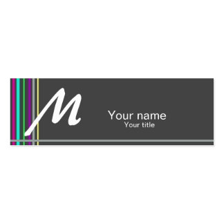 Simple business card with a touch of color