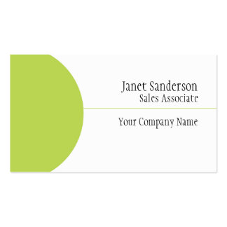 Simple Business Cards with Lime Green