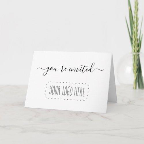 Simple Business Invitation _ Add Logo