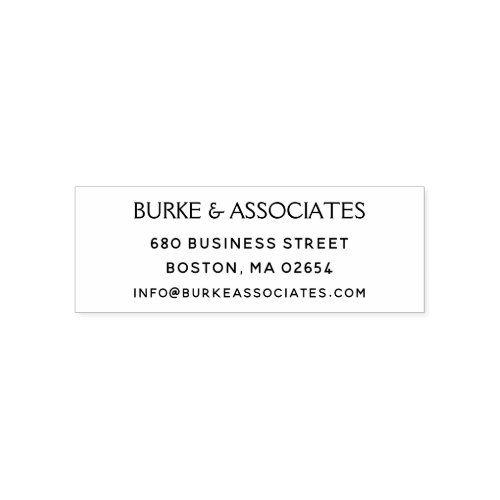 Simple Business Return Address Self_inking Stamp