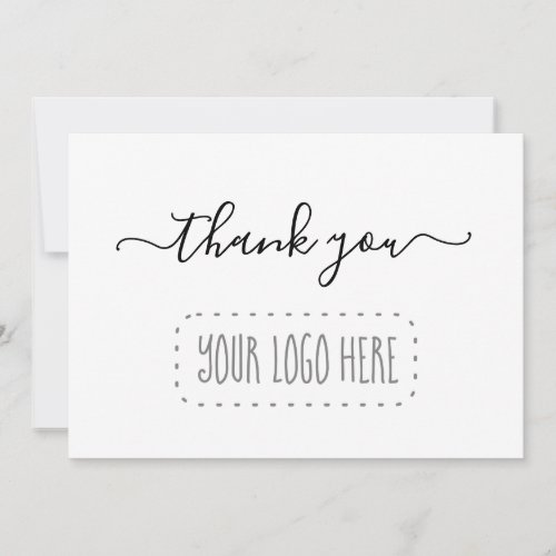 Simple Business Thank You Card _ Add Logo