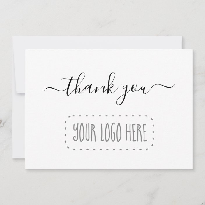 Simple Business Thank You Card Add