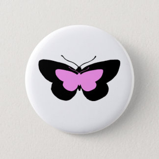 Simple Butterflies in Black & Baby Pink Button