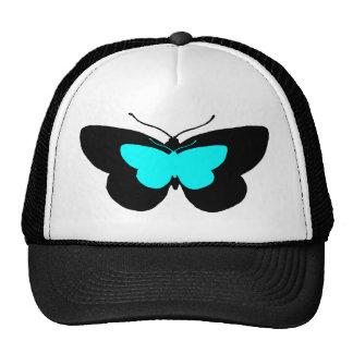 Simple Butterflies in Black Blue Trucker Hat