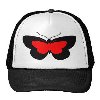 Simple Butterflies in Black & Red Trucker Hat