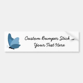 Simple Butterfly - Blue Car Bumper Sticker