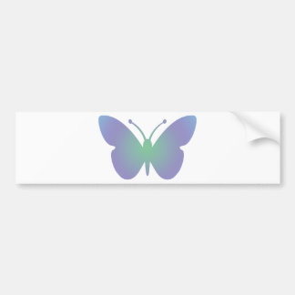 Simple Butterfly Bumper Sticker