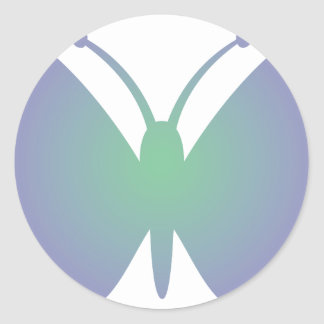 Simple Butterfly Classic Round Sticker