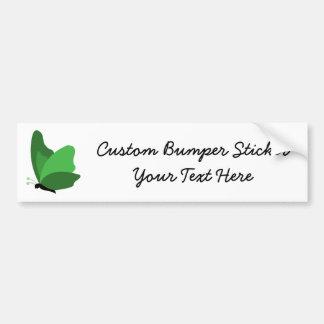 Simple Butterfly - Green Car Bumper Sticker