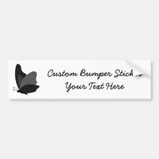 Simple Butterfly - Grey & Black Car Bumper Sticker