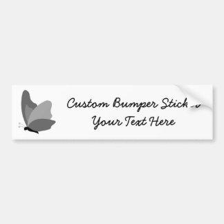 Simple Butterfly - Grey Car Bumper Sticker