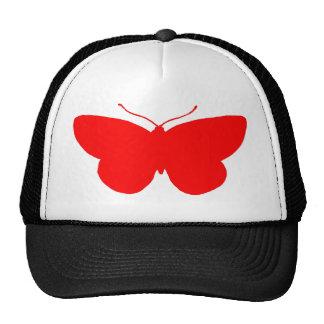 Simple Butterfly in Red Trucker Hat