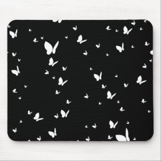 Simple Butterfly in Silhouette Mouse Pad