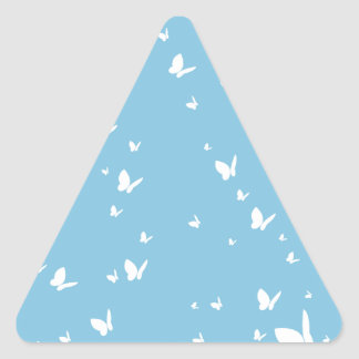 Simple Butterfly in Silhouette Triangle Stickers