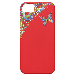 Simple Butterfly on Red iPhone SE/5/5s Case