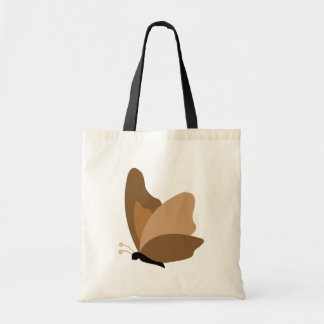 Simple Butterfly - Orange Brown Budget Tote Bag