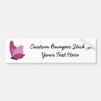 Simple Butterfly - Pink Bumper Sticker