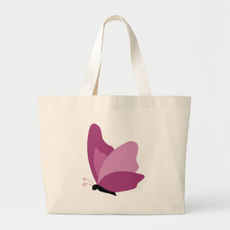 Simple Butterfly - Pink Jumbo Tote Bag