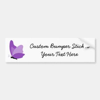 Simple Butterfly - Purple Bumper Sticker