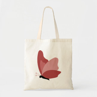 Simple Butterfly - Red Budget Tote Bag